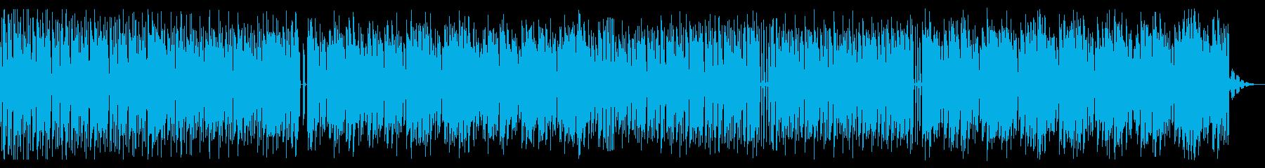 シンプルでビートの強いテクノの再生済みの波形