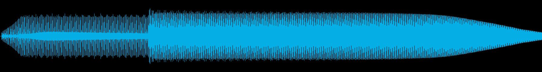 シンプルな決定音の再生済みの波形