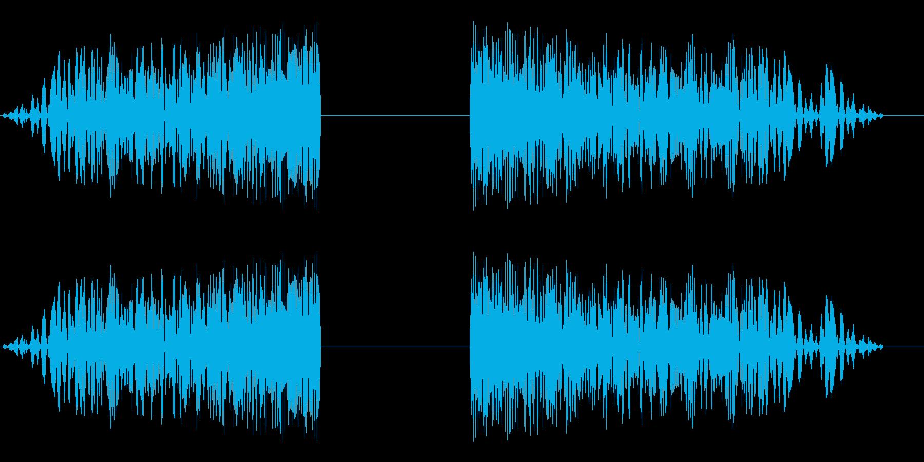 シュワーンシューン(風の音)の再生済みの波形