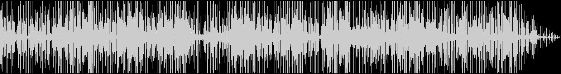 暗めで無機質・緊迫感のあるBGMの未再生の波形