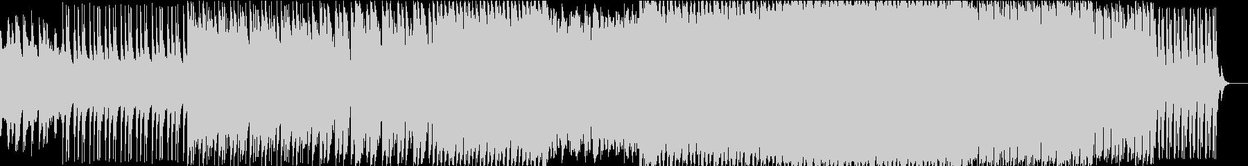 ダークで激しいエレクトロニック登場シーンの未再生の波形