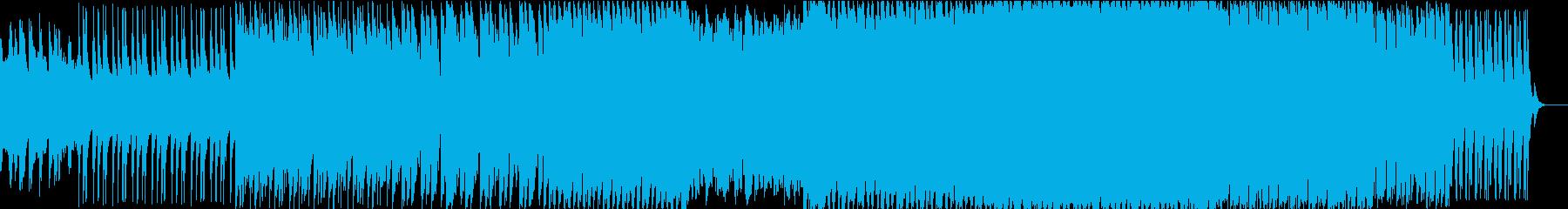 ダークで激しいエレクトロニック登場シーンの再生済みの波形