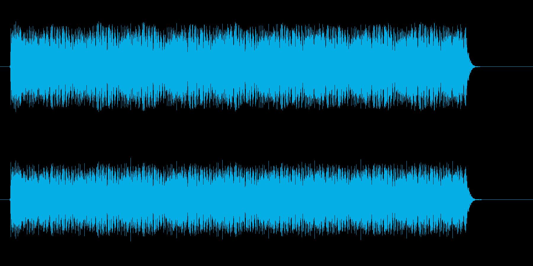 ダラララララというドラムロールの再生済みの波形
