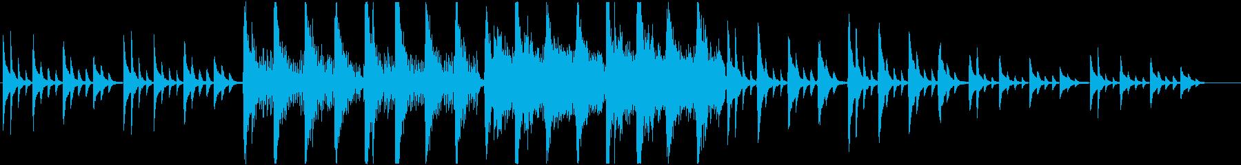 アコースティック系 少し切ない和風な曲の再生済みの波形