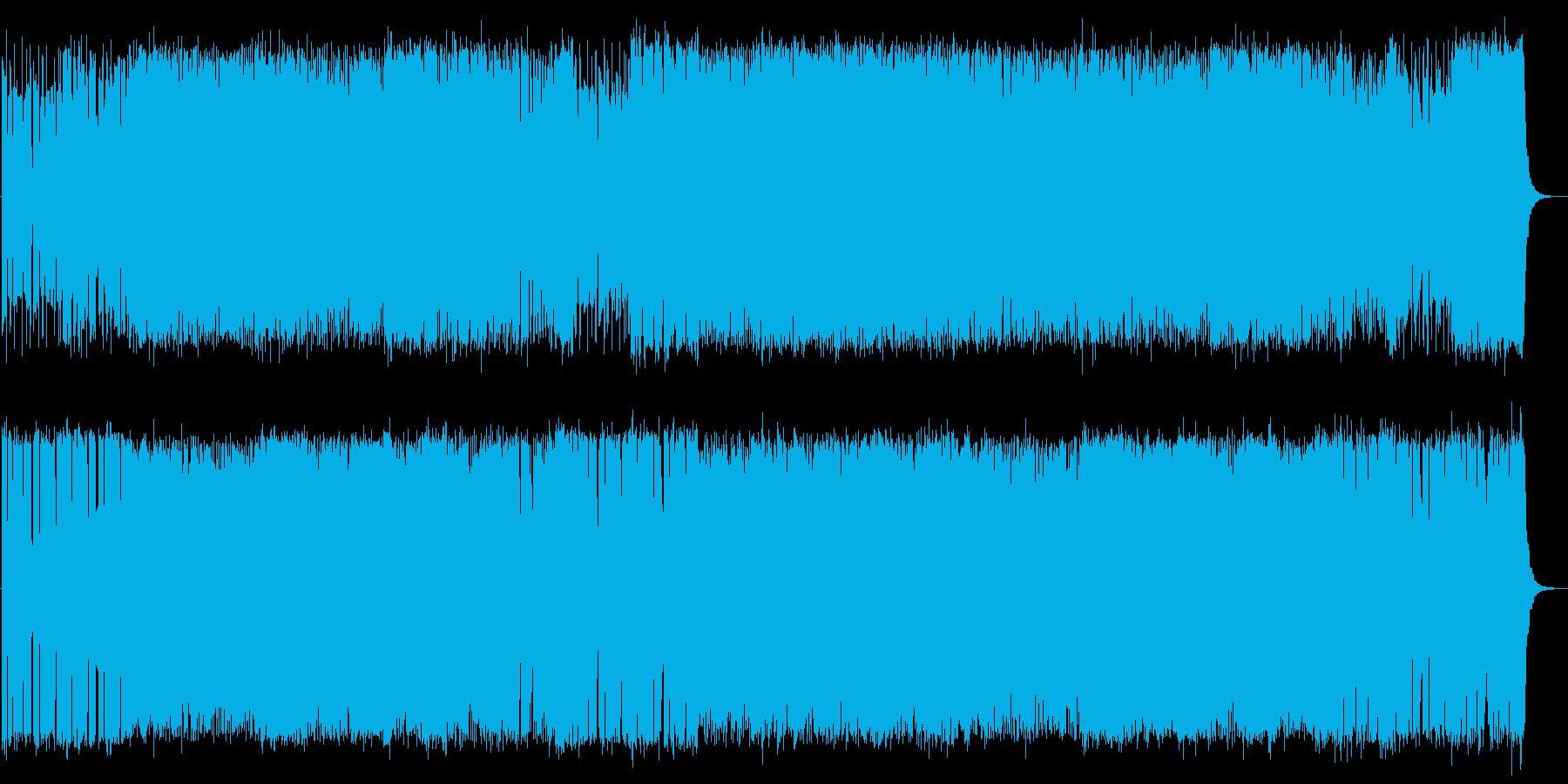 RPGゲームのボス戦をイメージとした楽曲の再生済みの波形