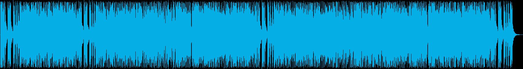 落ち着いたテンポのポップス曲の再生済みの波形