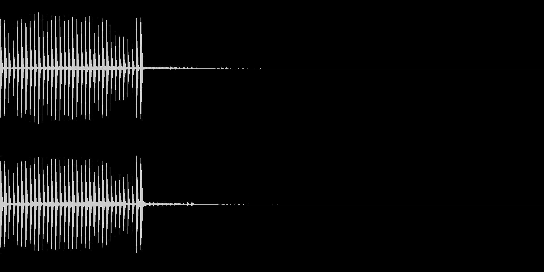 リール 釣りやクレーンなど キュルルル の未再生の波形