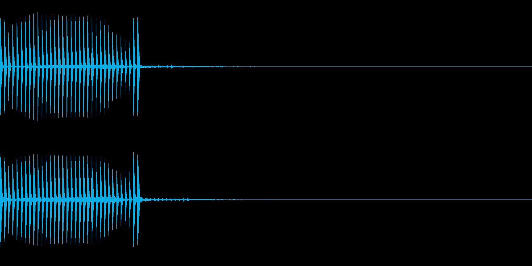 リール 釣りやクレーンなど キュルルル の再生済みの波形