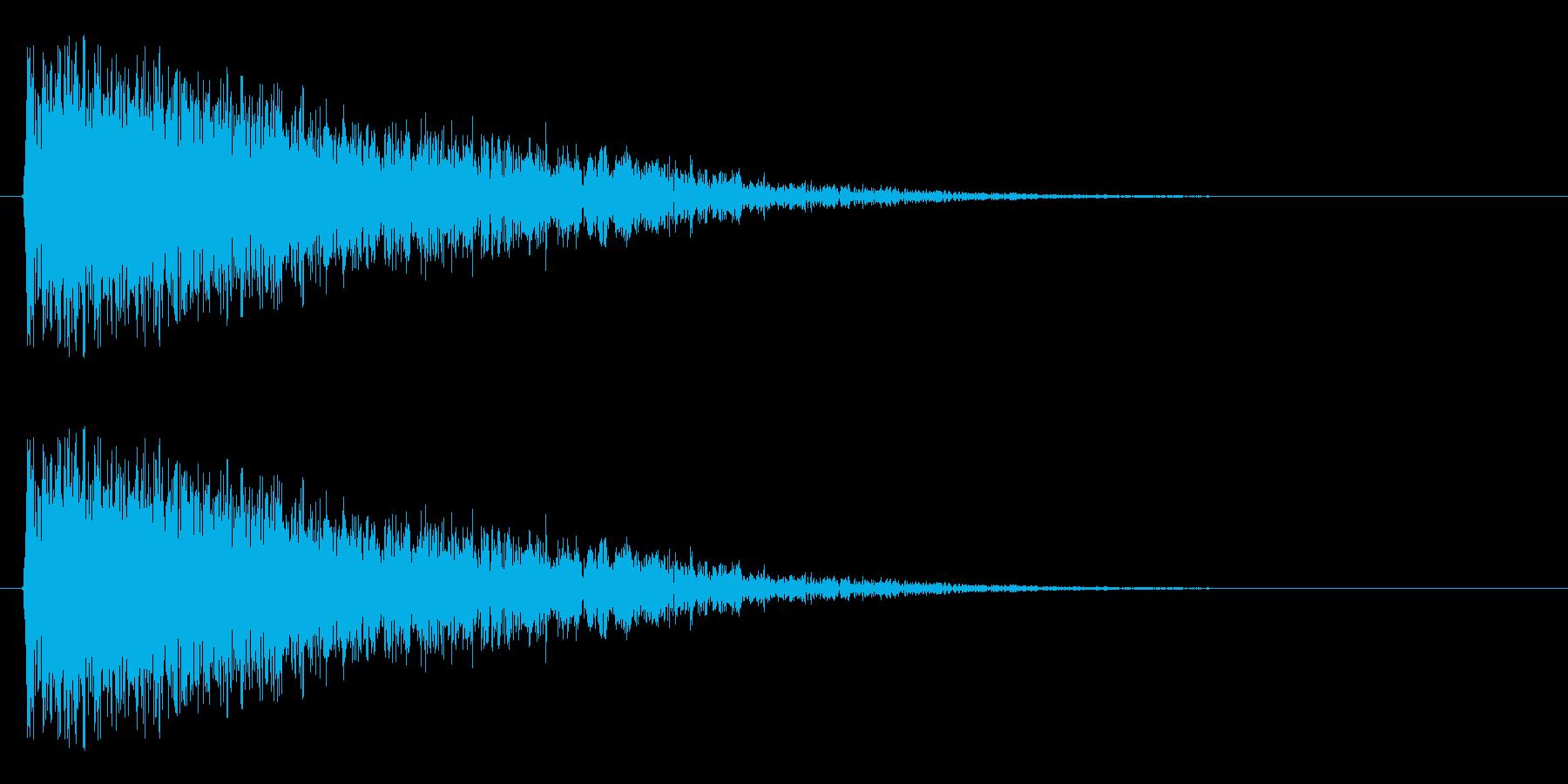 ミサイルをこちら側から発射する音の再生済みの波形
