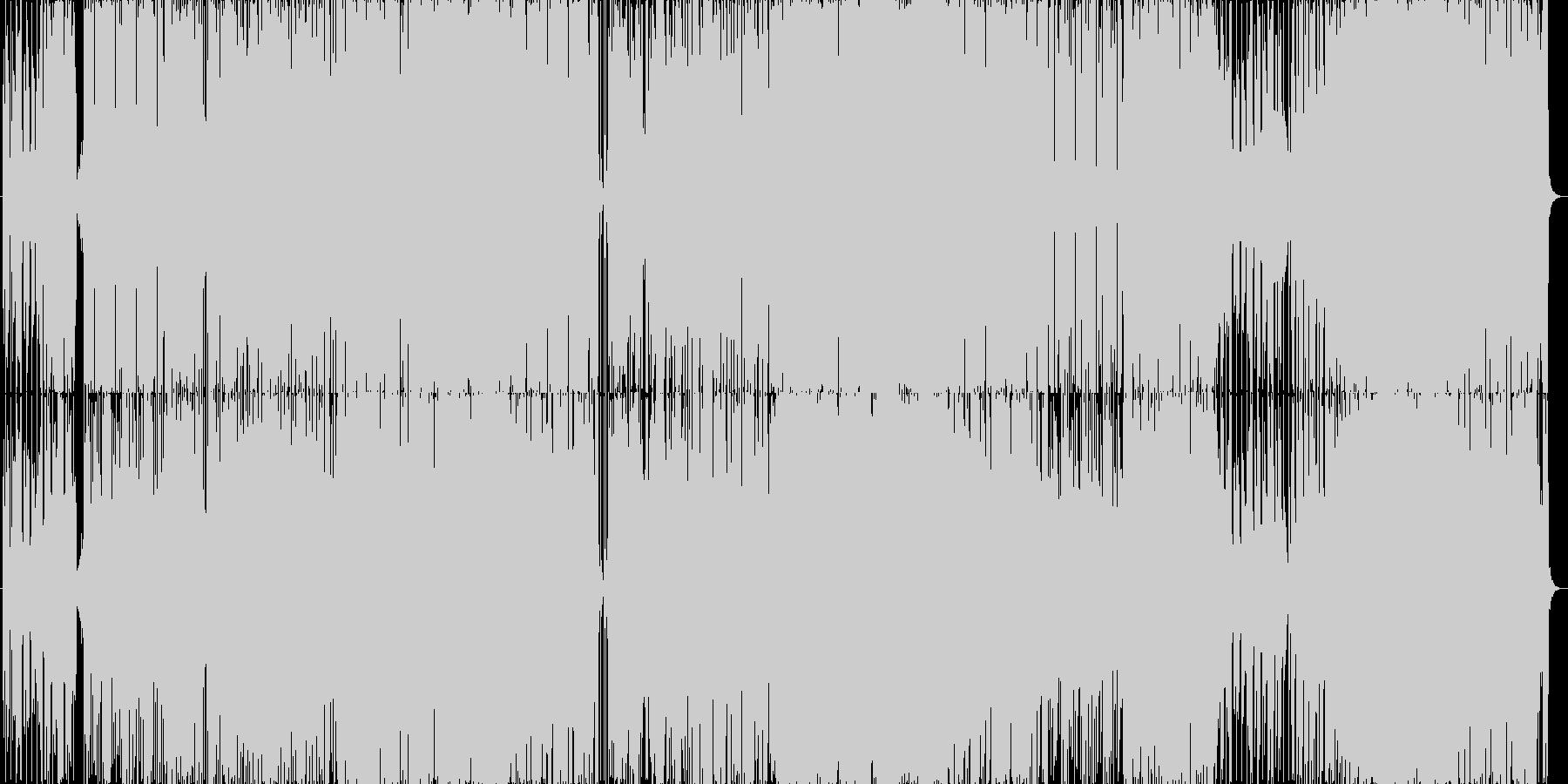 ラッパやシンセのノリ良いポップスの未再生の波形