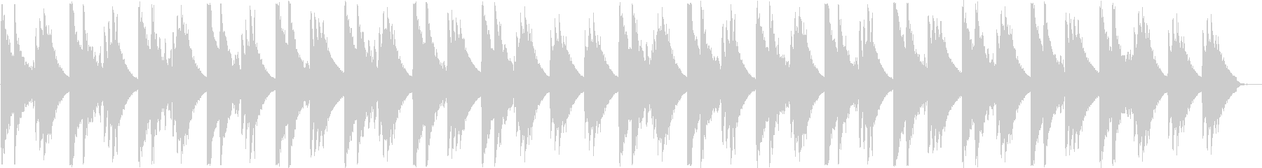 アコギの音色が落ち着くヒーリング曲の未再生の波形