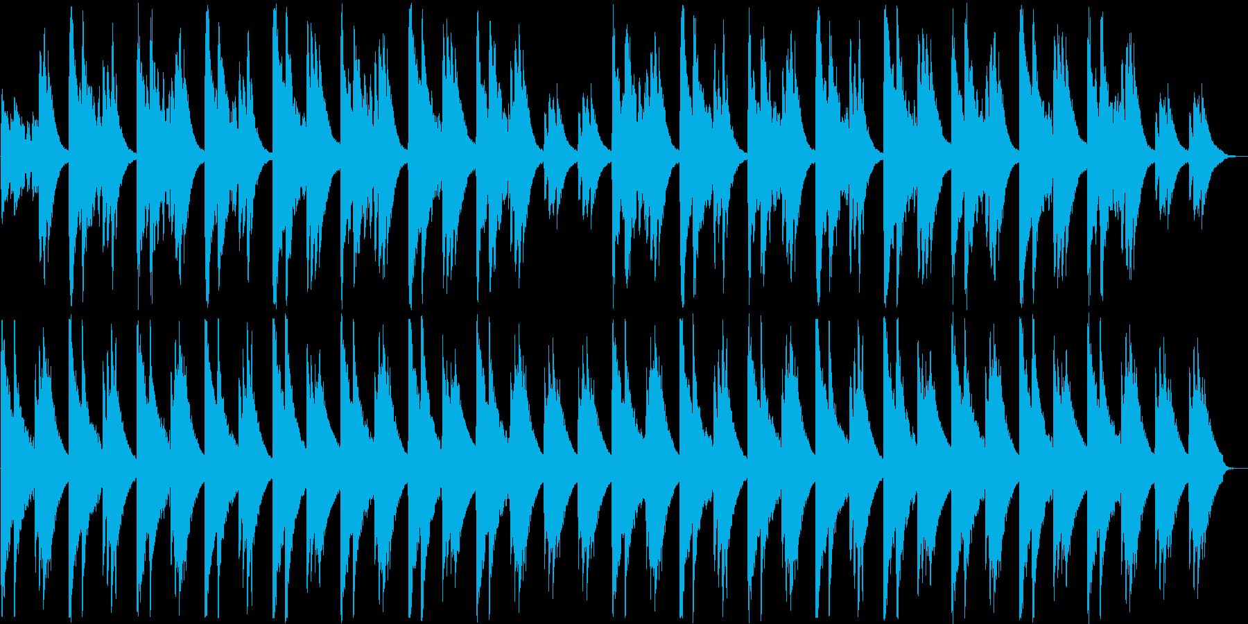 アコギの音色が落ち着くヒーリング曲の再生済みの波形