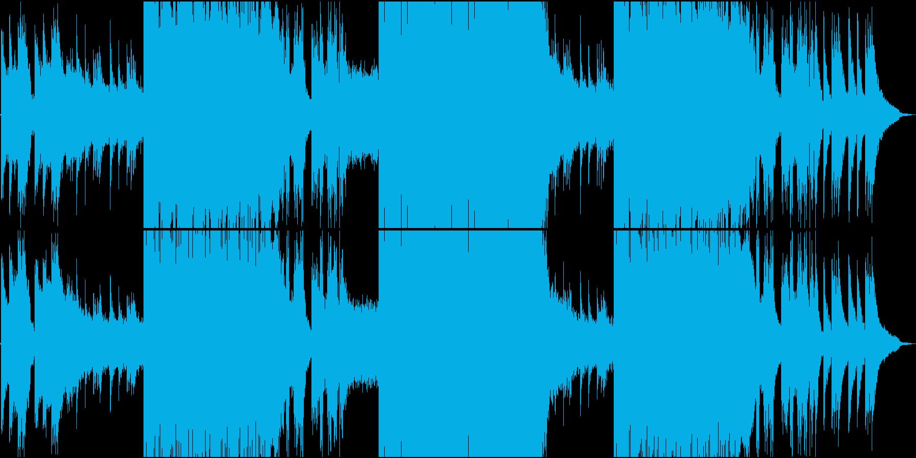 静かなR&Bと激しいFutureBassの再生済みの波形
