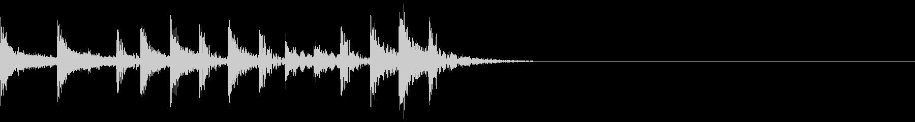 生ドラム_Fill inサンプリングの未再生の波形