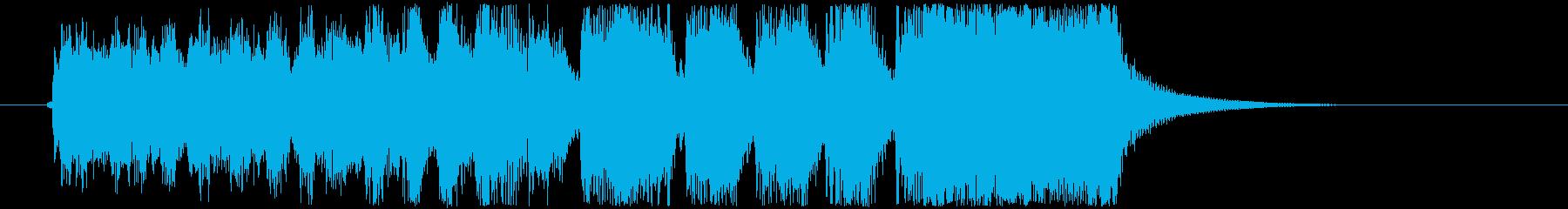 某SF映画風の壮大なファンファーレの再生済みの波形