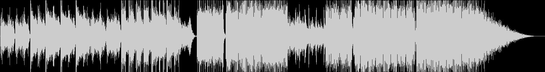 幻想的な4つ打ちエレクトロファンクの未再生の波形