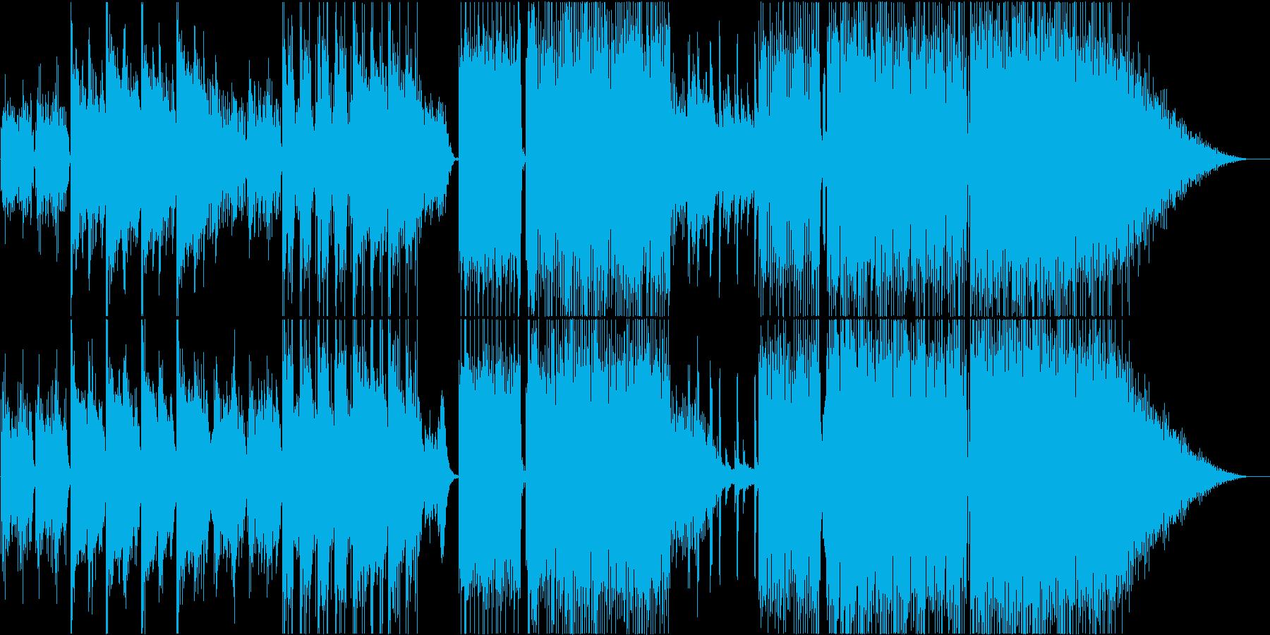 幻想的な4つ打ちエレクトロファンクの再生済みの波形