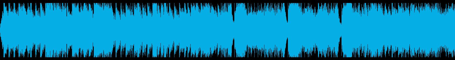シンフォニックで勇壮な曲の再生済みの波形