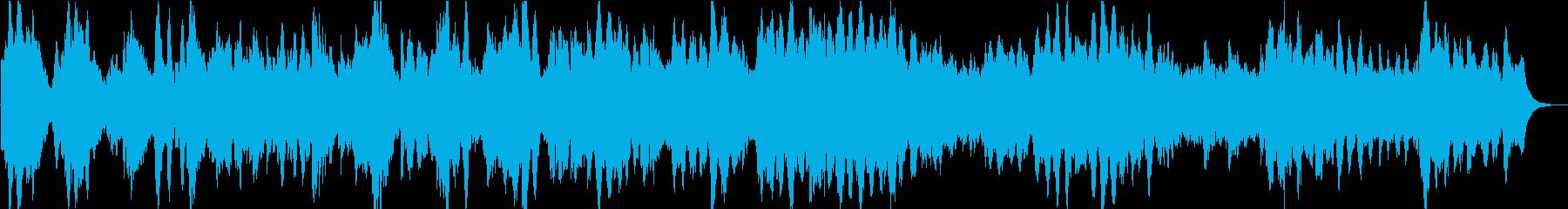 本物のアコースティックピアノと流れ...の再生済みの波形