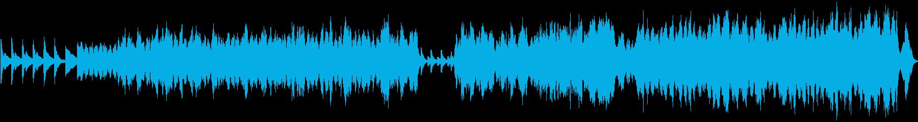 ドラマチックに彩るピアノと弦楽器のコラボの再生済みの波形