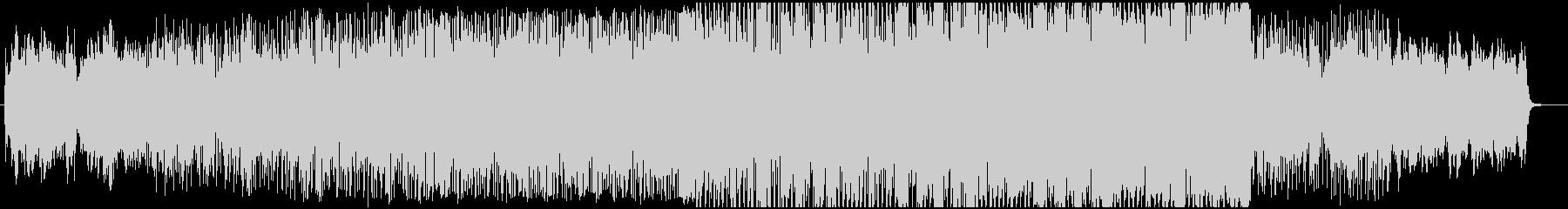 静かめのオープニング・エレクトロBGMの未再生の波形
