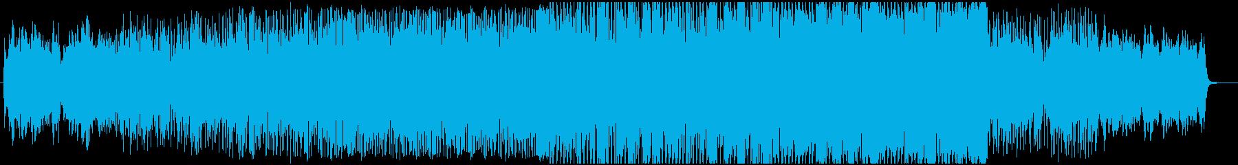 静かめのオープニング・エレクトロBGMの再生済みの波形