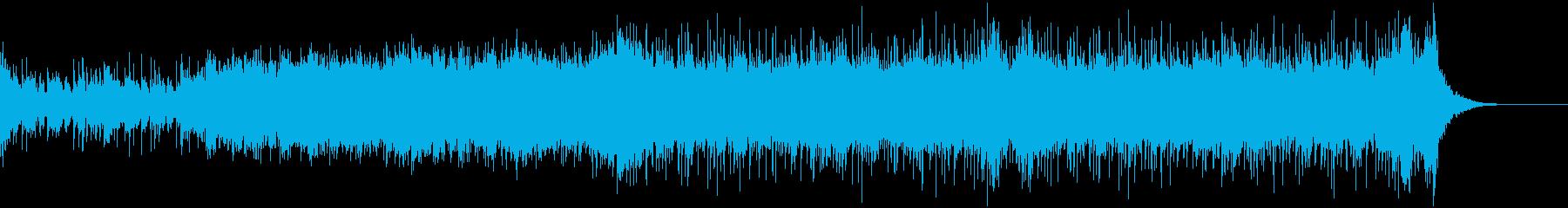 緊迫感のあるシネマティックなBGMの再生済みの波形