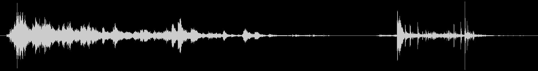メタルポールロールドロップの未再生の波形
