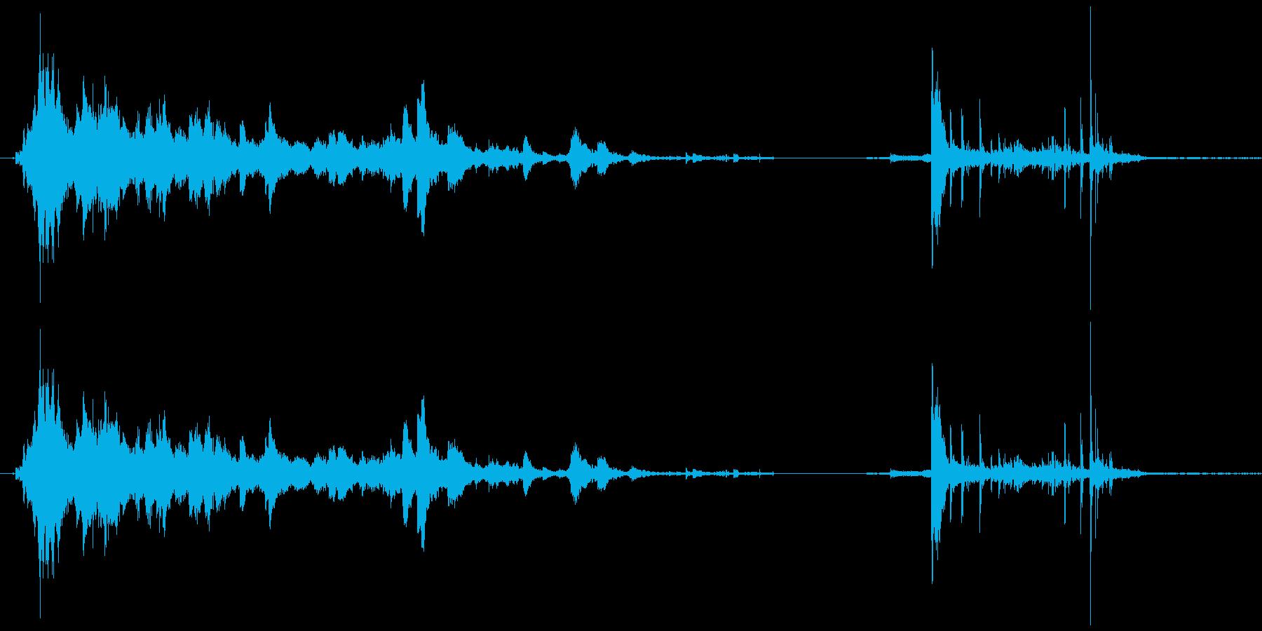 メタルポールロールドロップの再生済みの波形