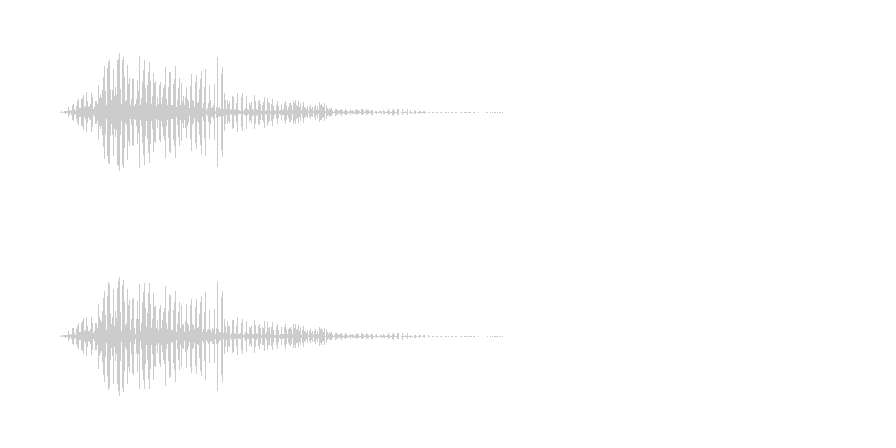 電子音,ブゥンブーン,通過,振る の未再生の波形