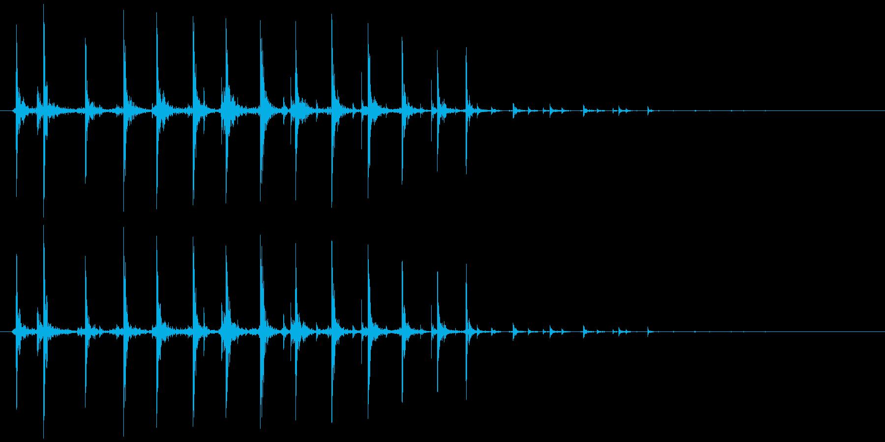 虫、モンスター等(動く鳴く)カチカチ…の再生済みの波形