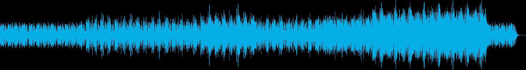 リズムとバイオリンなしの再生済みの波形