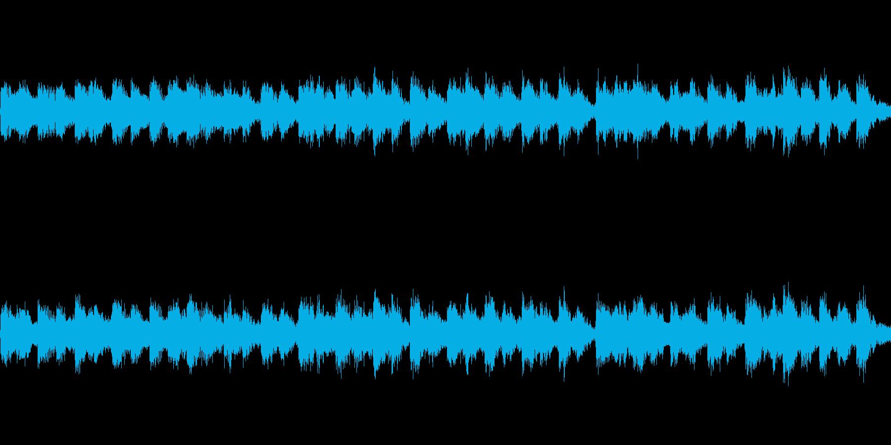 ロシア風のアコーディオンのジングルループの再生済みの波形