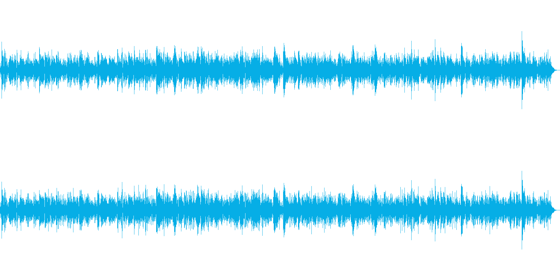 安らぎの時間に聴きたいお洒落ジャズBGMの再生済みの波形