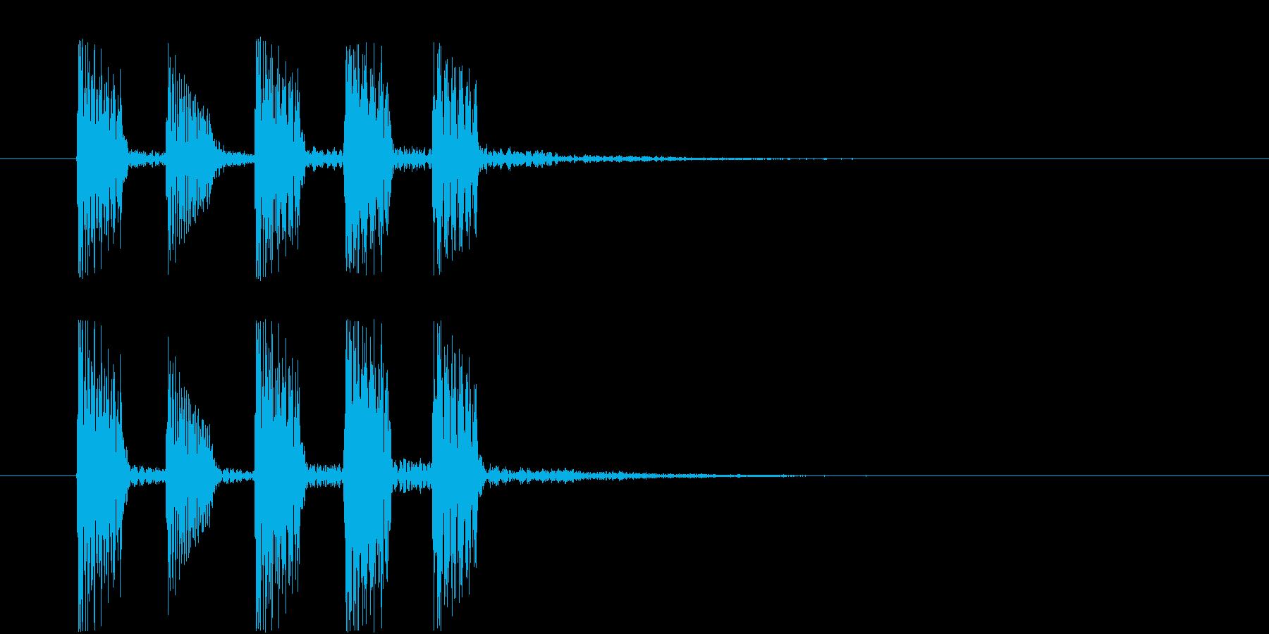 レベルUP・ステージ選択・ゲームクリア①の再生済みの波形