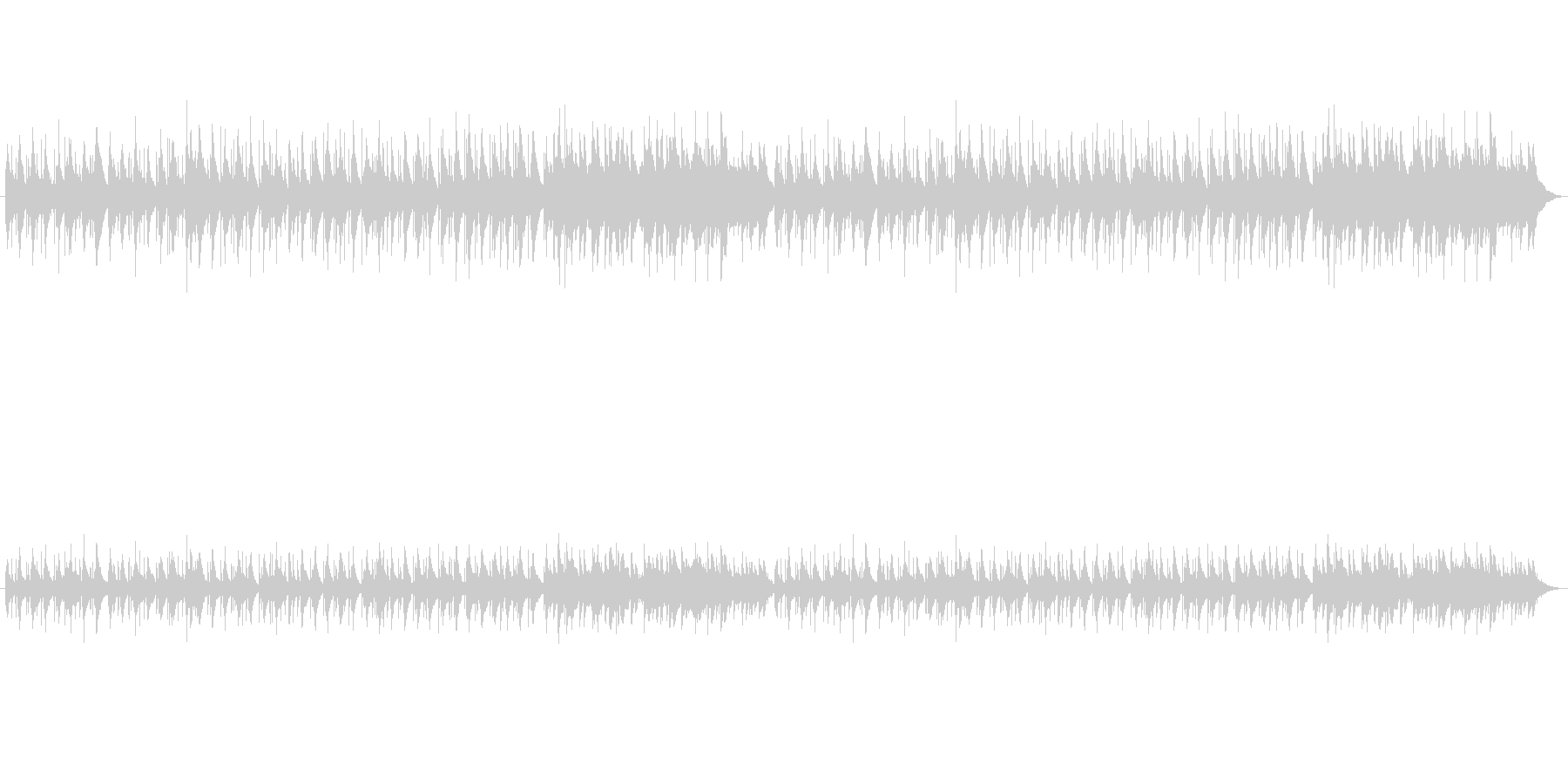 中世の切ないハープの未再生の波形