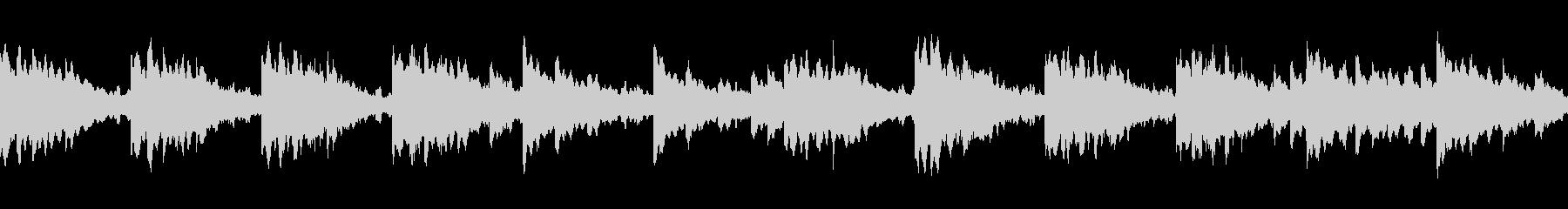 ループ仕様の癒されるヒーリングBGMの未再生の波形
