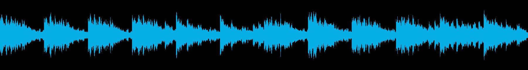 ループ仕様の癒されるヒーリングBGMの再生済みの波形