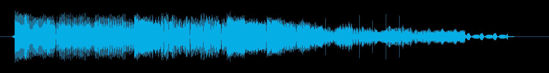 【チップチューン/スタート音/クリア音】の再生済みの波形