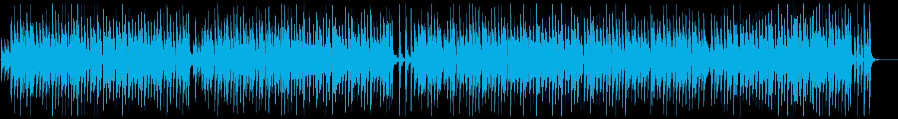 おしゃれで和むピアノメロディーの再生済みの波形
