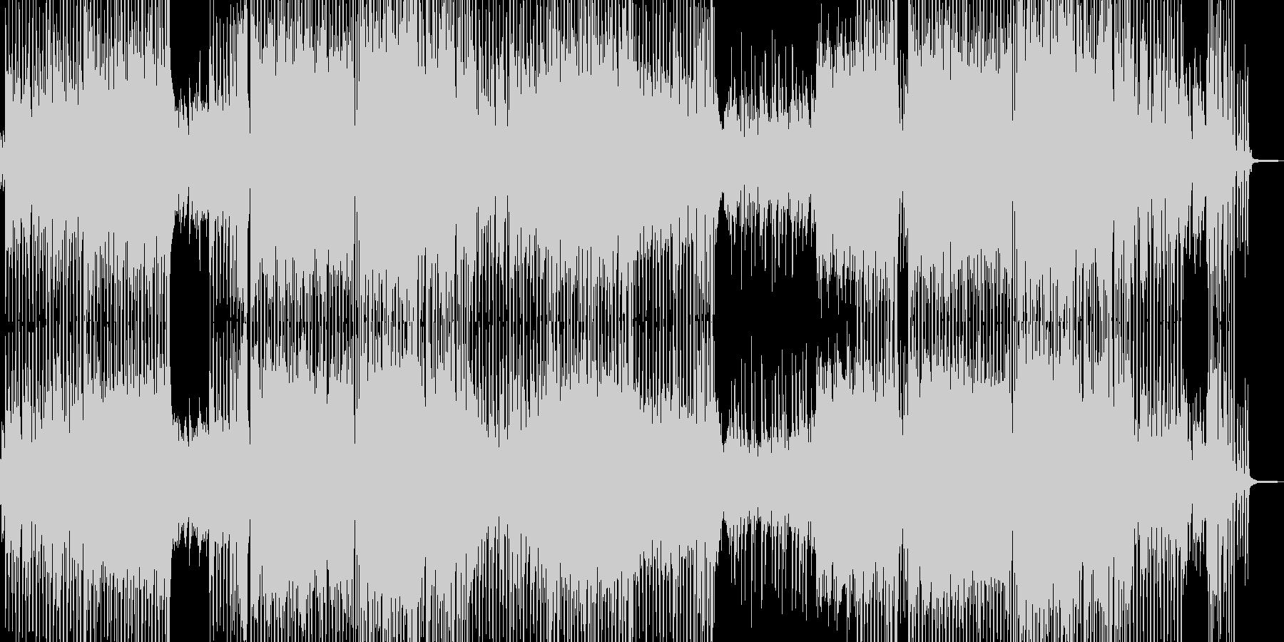 前向きに歩き出すテクノポップ 長尺の未再生の波形