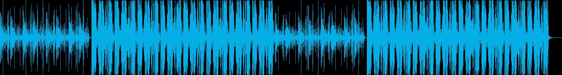 ビートの強いHiphopの再生済みの波形