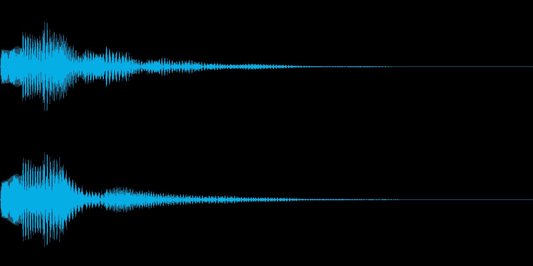 ぽろん(決定音・アラート)の再生済みの波形
