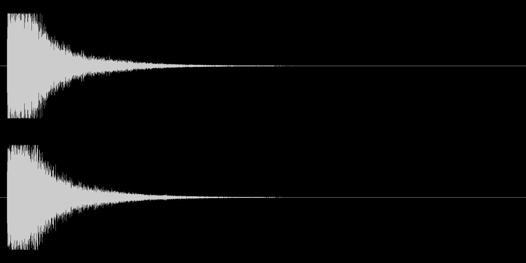 レーザー音-15-1の未再生の波形