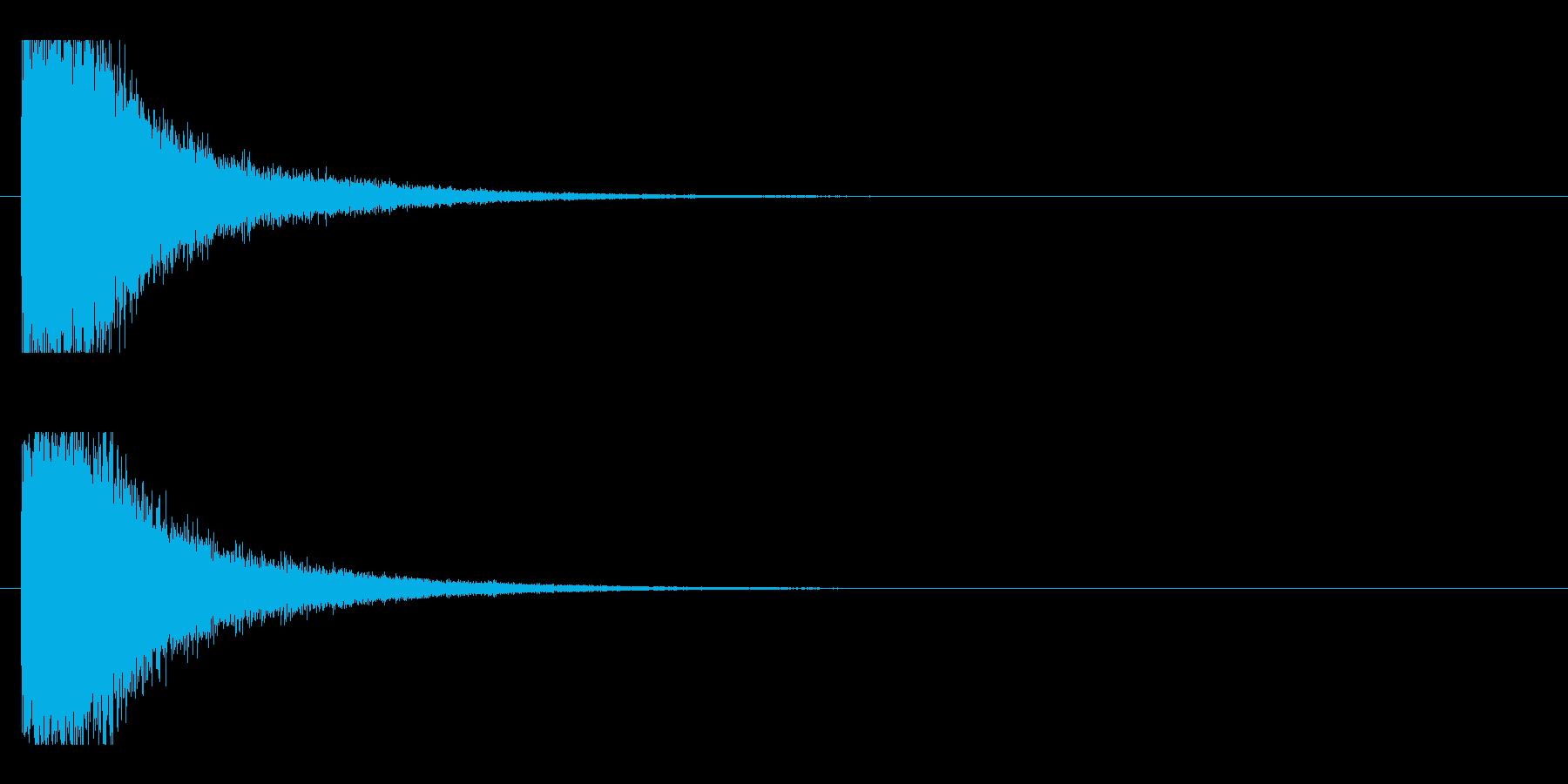 レーザー音-15-1の再生済みの波形