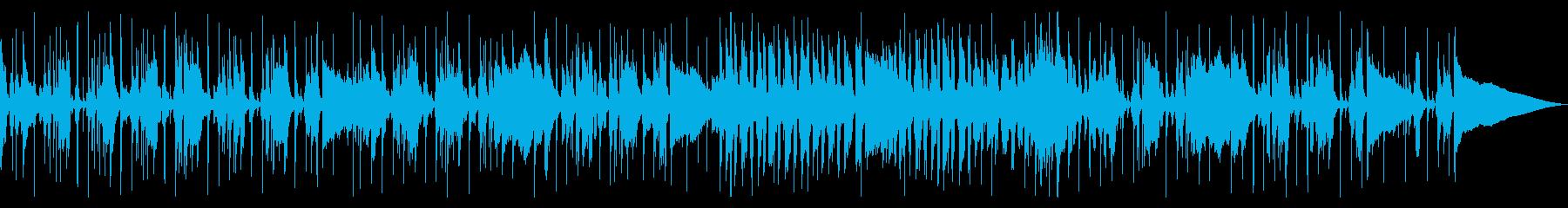 オシャレなほのぼのジャズの再生済みの波形