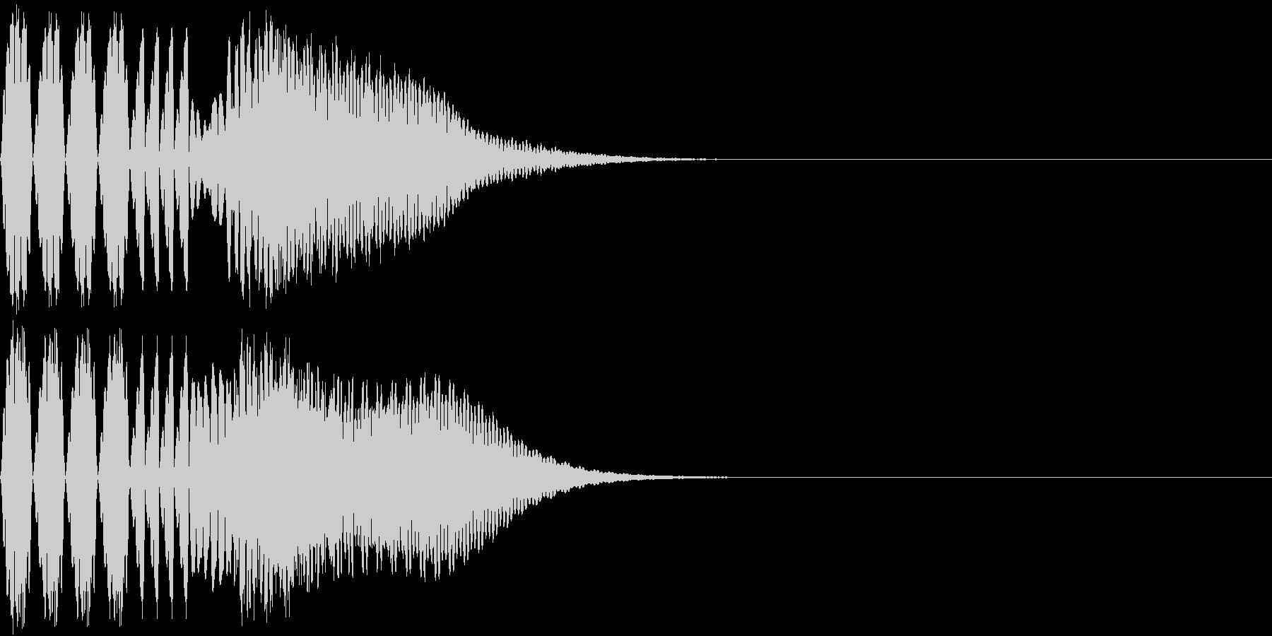 キュイン 強い 熱い 激アツ ピュインの未再生の波形