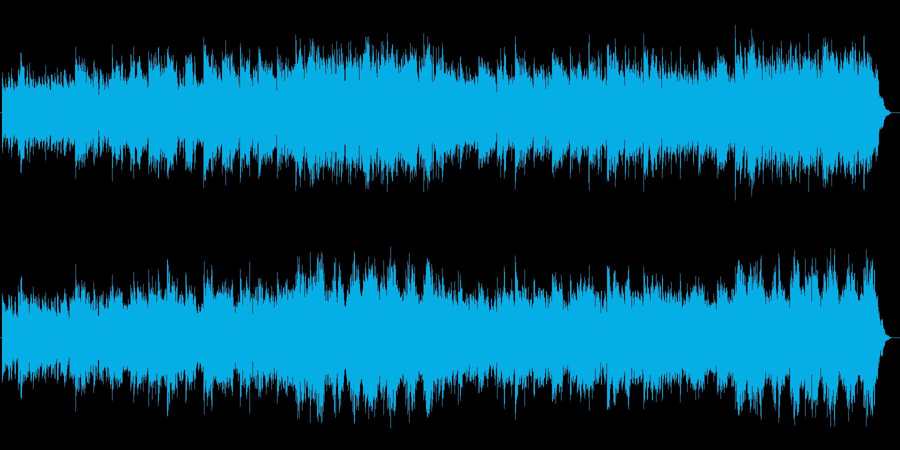 ギター系音色のスローなポップスの再生済みの波形