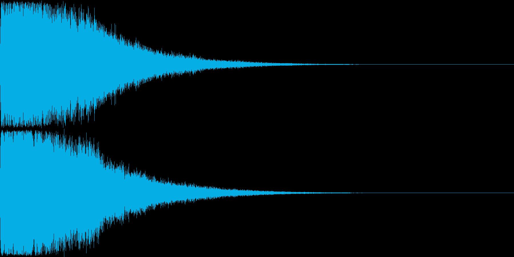 刀 剣 ソード カキーン キュイーン15の再生済みの波形