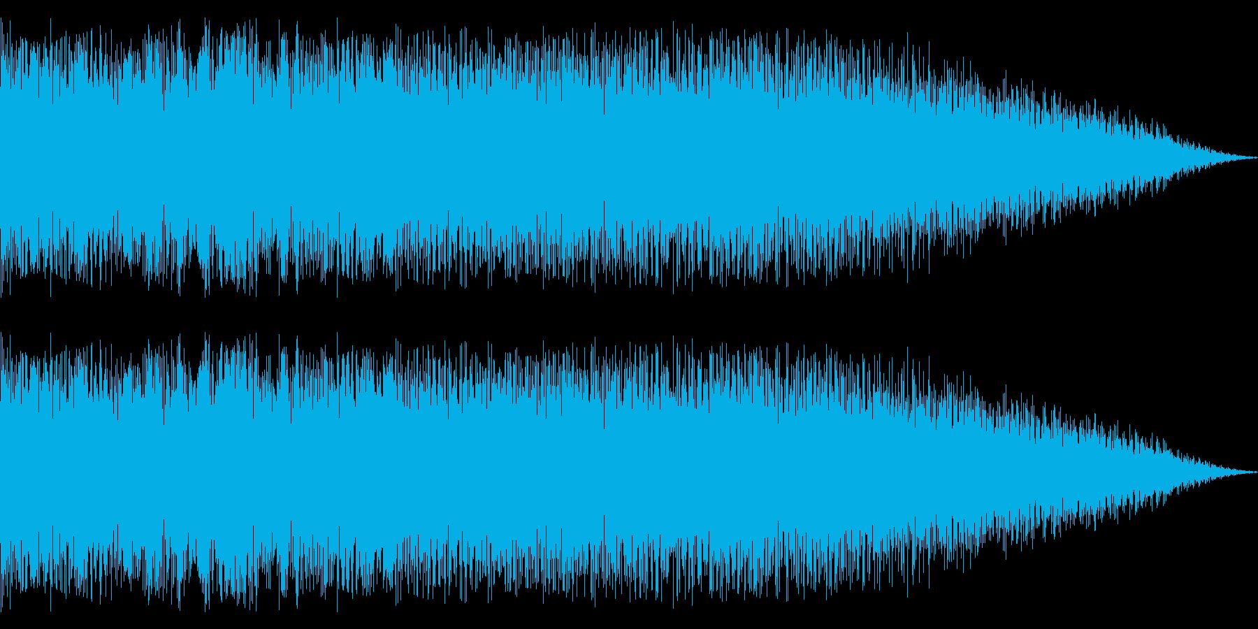 ディストーションのメタルなツインギターの再生済みの波形